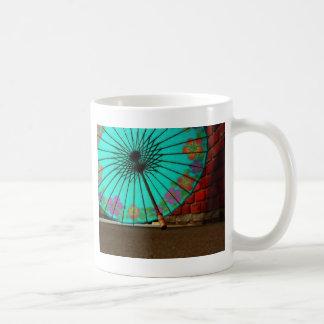 Blue Chinese Umbrella Coffee Mug
