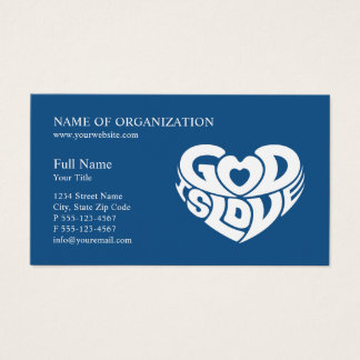 Blue Christian Church Pastor | Religious Ministry Business Card