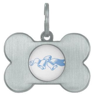Blue Christmas Bells Pet ID Tags