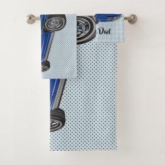 Blue Classic Corvette  Design Bath Towel Set