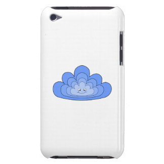 Blue Cloud with Smile on White. iPod Case-Mate Case