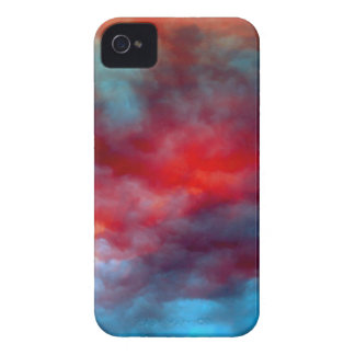 Blue Clouds, Red Sky iPhone 4 Cover