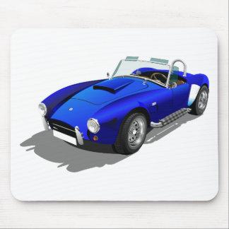 Blue Cobra Car Mouse Pad