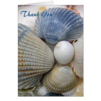 Blue Cockle Shells Card