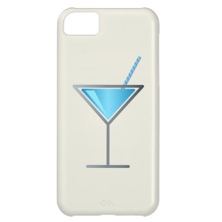 Blue Cocktail Martini Glass iPhone 5C Case