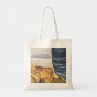 Blue Coffee Mug & Beans Tote Bag