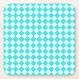Blue Combination Diamond Pattern Square Paper Coaster