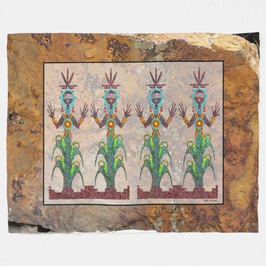 Blue Corn People, Navajo Mythology Fleece Blanket