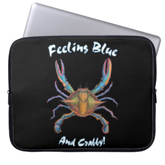 blue crab laptop case