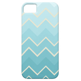 Blue & Cream Ombre Chevron Pattern Case For The iPhone 5