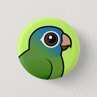 Blue-crowned Conure 3 Cm Round Badge