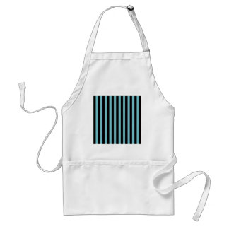 Blue Curacao And Vertical Black Stripes Patterns Aprons