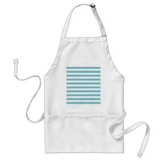 Blue Curacao And White Stripes Apron