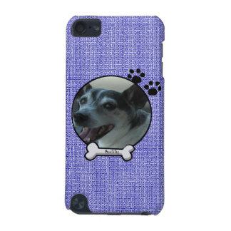 Blue Customizable Dog iPod Case