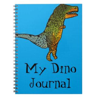 Blue cute dinosaur T-Rex Dino Journal