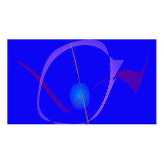 Blue Cygnus Abstract Art Business Card Template