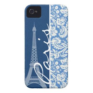 Blue Damask; Paris iPhone 4 Covers