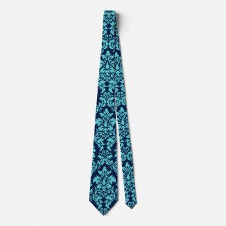 Blue Damask Tie