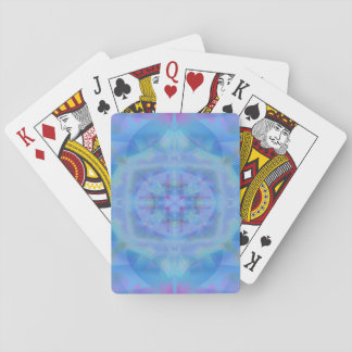 Blue dancer playing cards