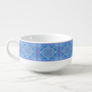 Blue Dancer Soup Bowl With Handle