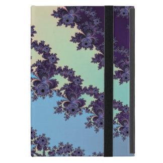 Blue Dangling Fractal Stripes Monogrammed Case For iPad Mini