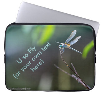 Blue Dasher Dragonfly Laptop Sleeve