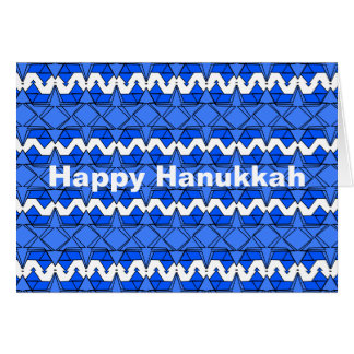 Blue Design on Hanukkah Greeting Cards