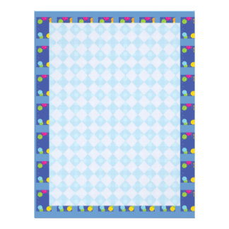 Blue Diamod BAlloons : Dream Love Letter LoveLett Customized Letterhead