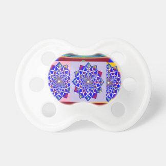 BLUE DIAMOND Chakra Wheel Flower Royal Pacifiers