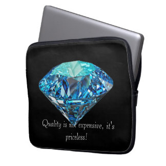 Blue diamond laptop computer sleeves