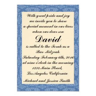 Blue Diamonds Bar Mitzvah/Birthday Invitation