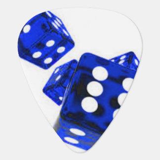 Blue dice plectrum