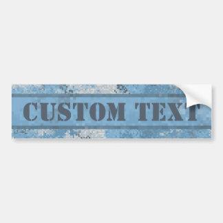 Blue Digi Camo w/ Custom Text Bumper Sticker