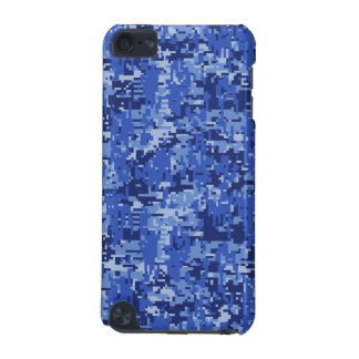 Blue Digital Pixels Camouflage Decor Texture iPod Touch (5th Generation) Cases