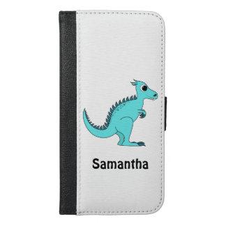 Blue Dinosaur iPhone 6/6s Plus Wallet Case
