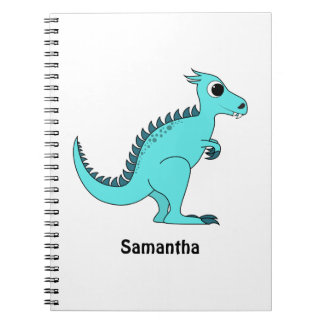 Blue Dinosaur Spiral Note Book