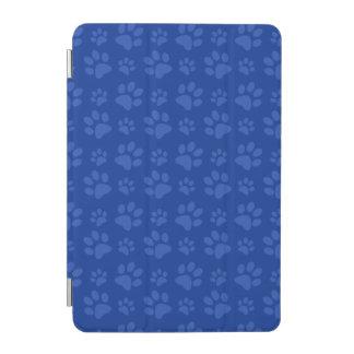 Blue dog paw print pattern iPad mini cover