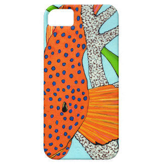 Blue Dot Grouper in Coral Barely There iPhone 5 Case