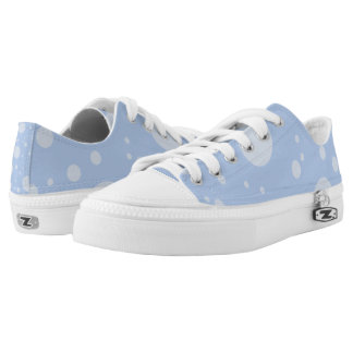 Blue Dots Custom Zipz Low Top Shoes Printed Shoes