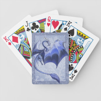 Blue Dragon of Winter Fantasy Nature Art Bicycle Playing Cards