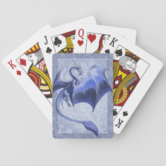 Blue Dragon of Winter Fantasy Nature Art Playing Cards