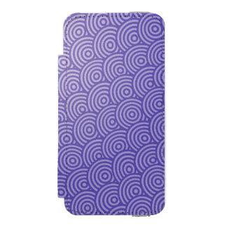 blue drawn circle interesting pattern design incipio watson™ iPhone 5 wallet case