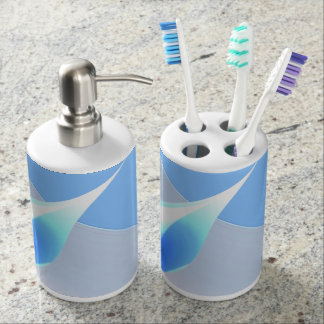 Blue drop bathroom set