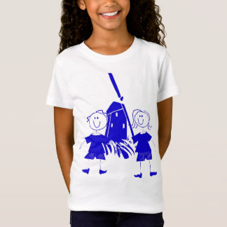 Blue Dutch Stick Kids T-Shirt