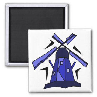 Blue Dutch Windmill Magnet