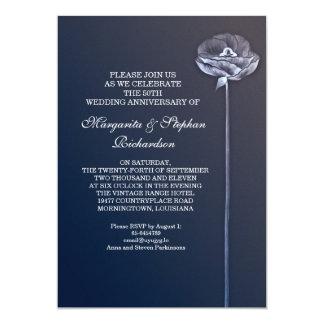 blue elegant wedding anniversary invitations