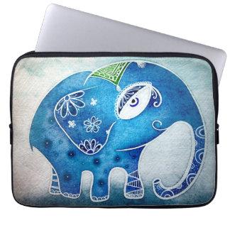 Blue elephant computer sleeve