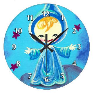 Blue Elf Boy Clock