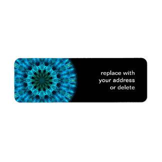 Blue Energy Kaleidoscope Return Address Label
