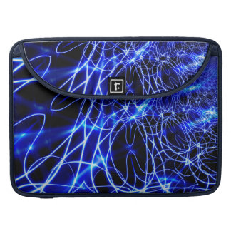 Blue Energy Lines, Fantasy Blue Flash Sleeves For MacBook Pro